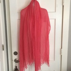 Sheer scarf / wrap coral